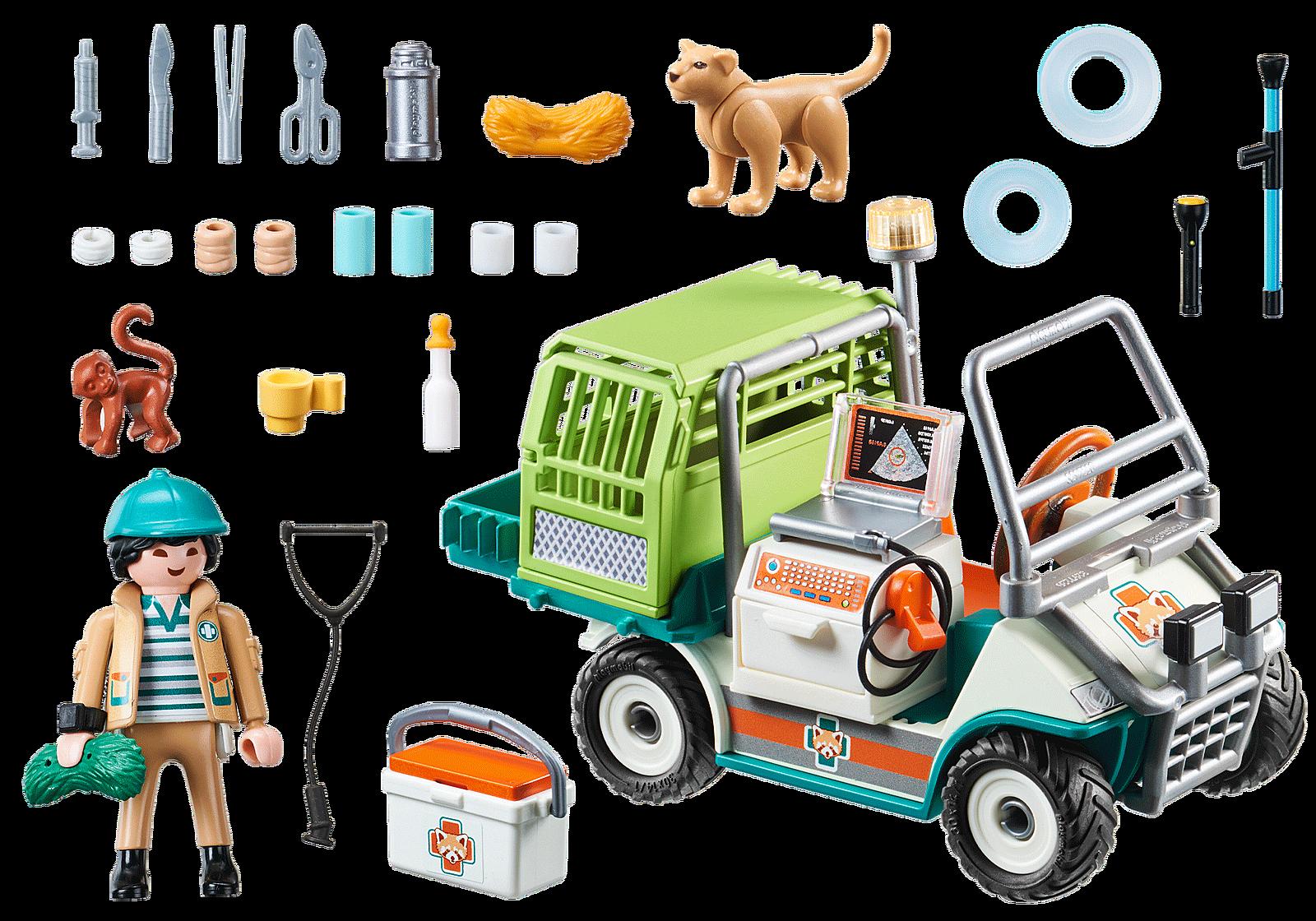 Vétérinaire et véhicule tout terrain